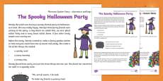 Halloween ee Phoneme Spotter Story