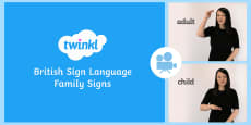 Over 60 Family Signs in British Sign Language (BSL) Video Clip