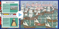 * NEW * KS2 The Spanish Armada Information PowerPoint