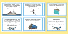 Travel Agent Addition and Subtraction One and Two-Step Word Problems Role Play Challenge Cards
