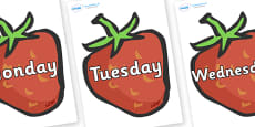 Days of the Week on Strawberries