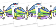 100 High Frequency Words on Butterflies to Support Teaching on The Very Hungry Caterpillar