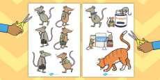 The Town Mouse and the Country Mouse Story Cut Outs