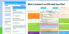 EYFS Summer Adult Input Planning and Resource Pack Overview