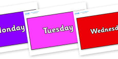Days of the Week on Rectangles