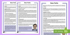 KS2 Rosa Parks Differentiated Fact File