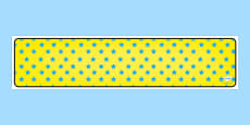 Yellow with Blue Stars Editable Display Banner