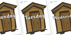 Days of the Week on Sheds