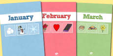 A4 Months Divider Covers
