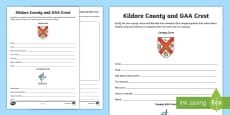 * NEW * Kildare County and GAA Crest Activity Sheet