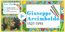 Food KS1 Giuseppe Arcimboldo Information PowerPoint Presentation