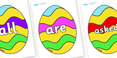 Tricky Words on Easter Eggs (Striped)