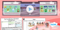 PlanIt - RE Year 5 - The True Meaning of Christmas Lesson 4: Christmas Cards Lesson Pack