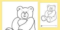 Colouring Teddy Bears