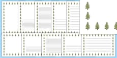 Larch Tree Themed Page Borders