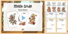 Maya Gods Card Game Teaching Pack
