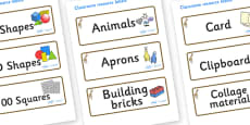 Giraffe Themed Editable Classroom Resource Labels