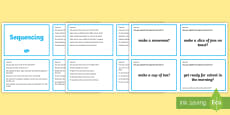 Guided Reading Skills Task Cards Sequencing