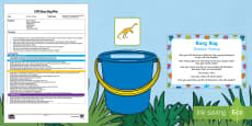 EYFS Dinosaur Posting Busy Bag Plan and Resource Pack