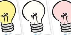 Editable Lightbulbs (A4)