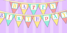 Animal Themed Birthday Party Happy Birthday Bunting