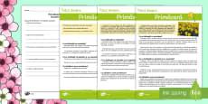 Primăvara - Fișă de evaluare a competenței de  lectură