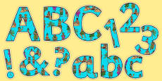 Pacific Islands Themed Display Letters and Numbers Pack