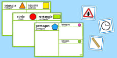2D Shape Sorting Activity Portuguese Translation