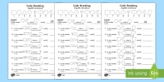 * NEW * Place Value Code Breaking Activity Sheets Polish/English