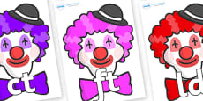 Final Letter Blends on Clown Faces