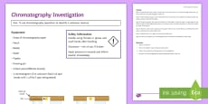 Chromatography Investigation Instruction Sheet Print-Out