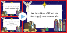 We Three Kings Christmas Carol Lyrics PowerPoint