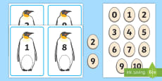 Penguin Themed Number Bonds to 10