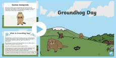 Groundhog Day PowerPoint Grades Kindergarten to 2nd PowerPoint