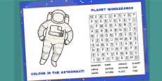Space Themed Birthday Party Activity Place Mats
