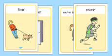 Verb Action Posters French