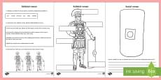 Soldații romani - Fișă de lucru