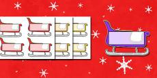 Christmas Self Registration Sleighs Editable