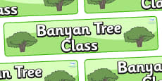 Banyan Tree Themed Classroom Display Banner