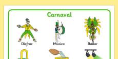 Tapiz de vocabulario Carnaval