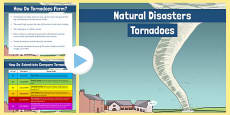 Natural Disasters Tornadoes Information PowerPoint