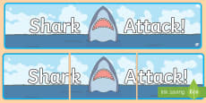 Shark Attack Display Banner