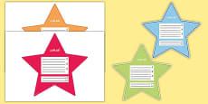 My Goals Pupil Target Stars Arabic