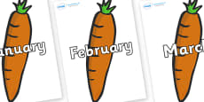 Months of the Year on Carrots