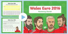 Euro 2016 Wales Numeracy Starter Nursery Reception PowerPoint
