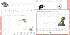 Australia - Chinese New Year Pencil Control Path Activity Sheets