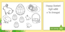 Easter Gift Card Template English/Te Reo Māori
