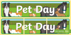 Pet Day (Domestic Animals) Display Banner