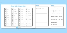 Morse Code Chart and Activity Sheet Pack