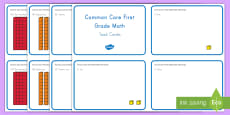 Common Core First Grade Math NBT A 1 Task Cards